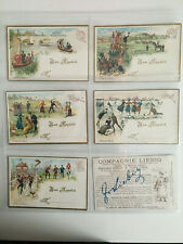 trade cards liebig sporting scenes table cards 1890 full set T8