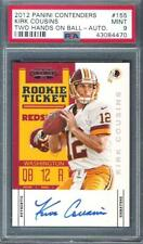 2012 KIRK COUSINS Panini Contenders Auto Rc PSA 9 SP Two Hands on Ball Vikings