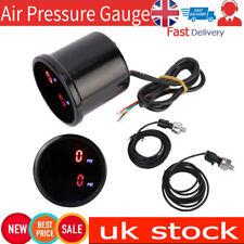 """2"""" 52mm 12V LED Dual Digital Car PSI Air Pressure Gauge Meter Air Ride Sensor UK"""
