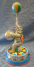 Vintage Circus Elephant, Tin Litho Wind-up Toy, Joseph Wagner, US Zone Germany