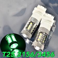 Reverse Backup Light T25 3156 3456 4156 80W LED Green Bulb Lamp W1 JA