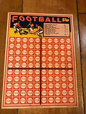 VINTAGE PUNCH BOARD CARD FOOTBALL CANDY 1 CENT UNPUNCHED GAME