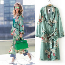 Women's Plus Bohemia Floral Tassel Long Kimono Oversize Shawl Tops Cardigan Coat Regular 3xl