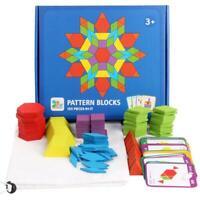 155pcs Kinder Holz Iq Spiel Jigsaw Puzzle Intelligent Tangram Rätsel Spiel #OS