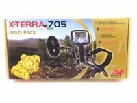 Minelab X-Terra 705 Gold Pack Portable Treasure Metal Detector DD Search Coil