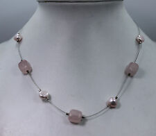 Pearl Necklace with Sterling Silver Clasp Silpada Rose Quarts And Fresh Water