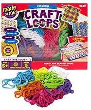 Craft Loops for Weaving Loom Enough for 5 Projects Colorful 3.5 Oz Made by Me