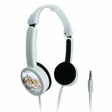 Dogs Outdoors on Fence Pattern Travel Portable On-Ear Foldable Headphones
