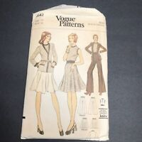 Vintage Vogue Sewing Pattern 8642 Size 14 Stretch Knit Cardigan Top Skirt Pants