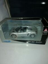 Welly 1/24 Scale Opel Speedster 2001 Diecast TY3841 Silver UNOPENED MINT