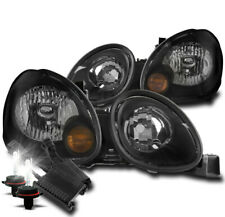 For 1998-2005 Lexus Gs300 Gs400 Gs430 Black Headlights Lamps +50W 6K Xenon Hid