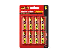 1 x 8 Pk  Stick Sticky Fly Insect Catchers poison free