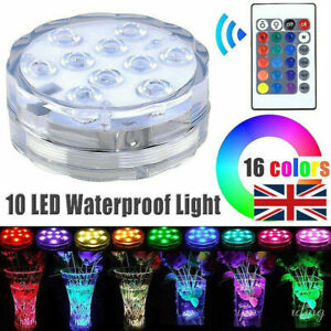 Hot Tub Underwater Floating Bath Lights Colorful 10 LED RGB Lazy Spa Disco Lamp