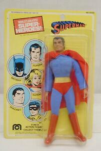 """Vintage Mego 8"""" WGSH Superman Figure 1977 MOC On Original Sealed Hanger Card"""