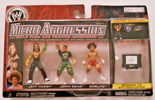 2007 Jakks WWE Micro Aggression Jeff Hardy, John Cena & Carlito Series 3