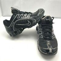 Nike Shox Navina Triple Black Athletic Running Fit Shoe Womens 6.5 313809-905