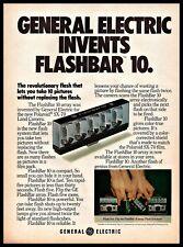 1973 Flashbar 10 Polaroid SX-70 Land Camera General Electric Vintage PRINT AD
