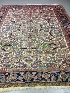 antiques-swiss******  Beautiful Antique indoHERIZI rug 8` x 10`1 ft