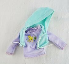 Barbie doll mint green hoodie vest purple long sleeve dog shirt 2 piece lot set