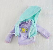 Barbie doll mint green hoodie vest purple long sleeve dog shirt 2 piece lot set