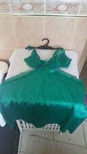 Ann Summers Alluna Emerald Green Chemise  + Thong Size 10 New With Tags