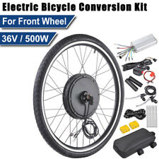 "26"" 500W Front Wheel Electric Bicycle E Bike Conversion Motor Kit Cycling 36V"