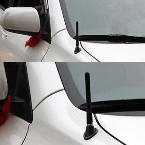 "1x Car Aerial Antenna Universal Black Real Carbon Fiber 4.7"" FM AM Radio Signal"