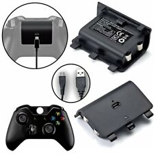 2x 1200mAh Rechargeable Battery Pack + Cable for Xbox One /S Wireless Controller
