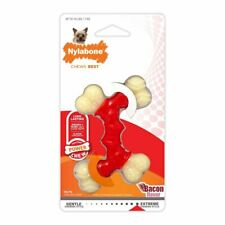Nylabone DuraChew Double Bone Bacon Flavor Dog Toy, X Small for 15Lbs Dogs