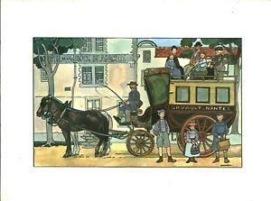 Fac-similé d'aquarelle de J. Bruneau Nantes du bon vieux temps planche no 18
