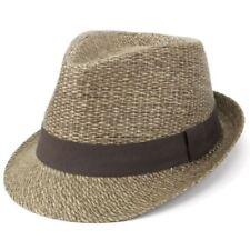 Cappelli da uomo marrone in paglia