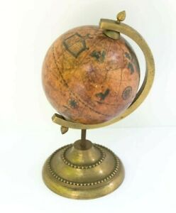 Small Old World style Desk Table Top GLOBE Decorative Made in Italy 6 inches