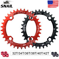 SNAIL 30-42T BCD104mm Chainring MTB Bike Narrow Wide Single Speed Crankset Bolts