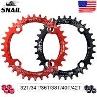 SNAIL 30-42T BCD104mm Chainring MTB Bike Narrow Wide Single Speed Crankset Bolts