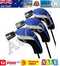 Set of 3 Golf Wood Head Covers - Blue - AU Stock - Fast Dispatch