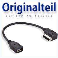 ORIGINAL Adapter Kabel USB VW Audi Seat Skoda Media In MDI AMI MMI Neu