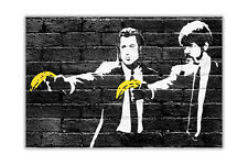 Banksy Pulp Fiction Bananas Poster Wall Art Urban Pictures Home Decoration