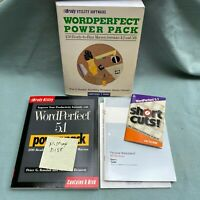 "WordPerfect 5.0 4.2 Power Pack 5.25"" Disk 5.1 Book Short Cuts Macros MS Windows"