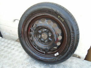 06-11 Peugeot 107  Citroen C1 Spare wheel  14 Inch 165 65 14R Tyre need changing