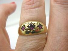 Garnet Yellow Gold Ring Vintage Fine Jewellery (1980s)