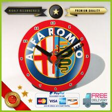 OROLOGIO DA TAVOLO ALFA ROMEO a lancette CD DVD mensola GADGET idea regalo