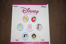 Disney Princess Embroidery Designs Card Snow White Cinderella Ariel Belle Jasmin