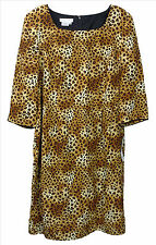 NWT Silk Dress 18 Fits Plus 1X Leopard Animal Print Shift Maggy London Woman NEW