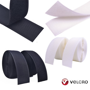VELCRO® Brand Sew On Hook & Loop Sewing/Stitch-On Fabric Tape Black White