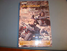 2004  POLARIS  SPORTSMAN ATV OWNER'S MAINTENANCE MANUAL