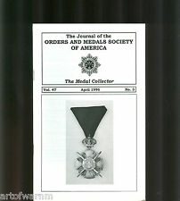 MEDAL COLLECTOR  Vol  47   #  3   1996  (  OMSA Journal )