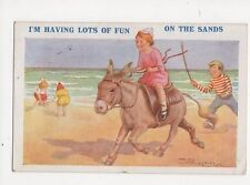 I'm Having Lots Of Fun On The Sands by Reg Maurice 1926 Comic Postcard 157a