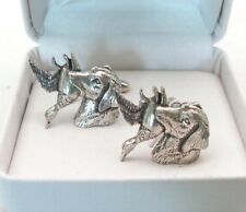 Labrador with Duck (hunting dog) Cufflinks, Pewter