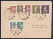 Berlin UPU 1949 Satzbrief + seltener Plattenfehler Attest (S13101)
