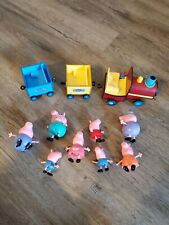 Peppa Pig Lot Car Train And 8 Figures Tested Working excellent ships $0